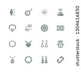 gemstone icon set. collection... | Shutterstock .eps vector #1304616850