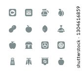 taste icon set. collection of... | Shutterstock .eps vector #1304616859