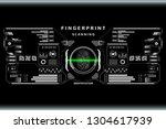 futuristic fingerprint scanner...