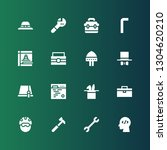 build icon set. collection of... | Shutterstock .eps vector #1304620210
