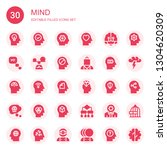 mind icon set. collection of 30 ...   Shutterstock .eps vector #1304620309