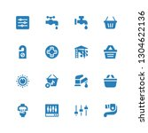 knob icon set. collection of 16 ... | Shutterstock .eps vector #1304622136