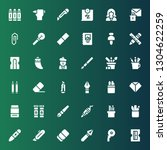 stationery icon set. collection ... | Shutterstock .eps vector #1304622259