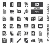 add icon set. collection of 32... | Shutterstock .eps vector #1304622319