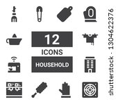 household icon set. collection... | Shutterstock .eps vector #1304622376