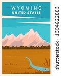 Wyoming Retro Poster. Usa...