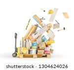 different floor coating...   Shutterstock . vector #1304624026