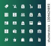 merchandise icon set.... | Shutterstock .eps vector #1304624893