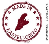 made in kastellorizo stamp.... | Shutterstock .eps vector #1304625976