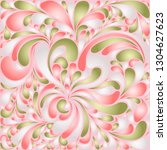 silk texture fluid shapes ... | Shutterstock .eps vector #1304627623