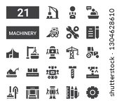 machinery icon set. collection... | Shutterstock .eps vector #1304628610
