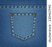 jeans pocket in vector eps 10. | Shutterstock .eps vector #130462940