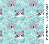 vector seamless pattern with... | Shutterstock .eps vector #1304630566