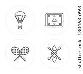 4 line parachuting  tennis... | Shutterstock .eps vector #1304635993