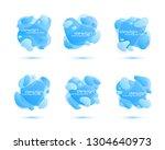 dynamic fluid design. gradient... | Shutterstock .eps vector #1304640973