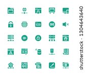 www icon set. collection of 25... | Shutterstock .eps vector #1304643640