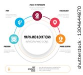 abstract infographics of maps... | Shutterstock .eps vector #1304644870