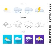 isolated object of weather and... | Shutterstock .eps vector #1304645233