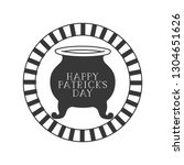 happy patrick s day label with... | Shutterstock .eps vector #1304651626