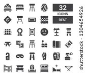 rest icon set. collection of 32 ... | Shutterstock .eps vector #1304654926