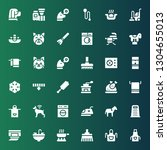 domestic icon set. collection... | Shutterstock .eps vector #1304655013