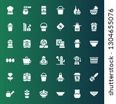 Pot Icon Set. Collection Of 36...