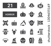 horror icon set. collection of... | Shutterstock .eps vector #1304655169