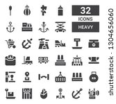 heavy icon set. collection of... | Shutterstock .eps vector #1304656060