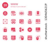 www icon set. collection of 20...   Shutterstock .eps vector #1304656219