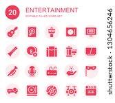 entertainment icon set.... | Shutterstock .eps vector #1304656246