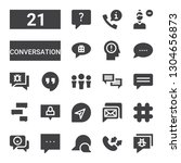 conversation icon set.... | Shutterstock .eps vector #1304656873