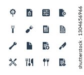 setting icon set. collection of ... | Shutterstock .eps vector #1304656966