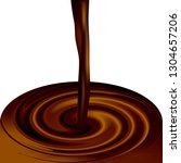 realistic coffee or cocoa...   Shutterstock .eps vector #1304657206