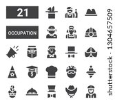 occupation icon set. collection ... | Shutterstock .eps vector #1304657509