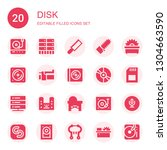 disk icon set. collection of 20 ... | Shutterstock .eps vector #1304663590