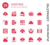 hosting icon set. collection of ... | Shutterstock .eps vector #1304663740