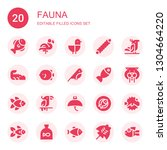 fauna icon set. collection of... | Shutterstock .eps vector #1304664220