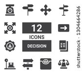 decision icon set. collection... | Shutterstock .eps vector #1304664286
