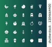 sweet icon set. collection of... | Shutterstock .eps vector #1304664400