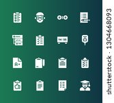 exam icon set. collection of 16 ... | Shutterstock .eps vector #1304668093