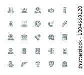 glyph icon set. collection of... | Shutterstock .eps vector #1304668120