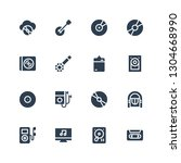 cd icon set. collection of 16... | Shutterstock .eps vector #1304668990