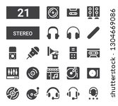 stereo icon set. collection of... | Shutterstock .eps vector #1304669086
