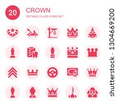 Crown Icon Set. Collection Of...