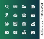 photographing icon set....   Shutterstock .eps vector #1304669293
