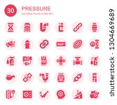 pressure icon set. collection... | Shutterstock .eps vector #1304669689