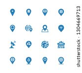 position icon set. collection...