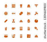 gourmet icon set. collection of ... | Shutterstock .eps vector #1304669803