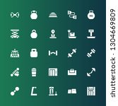 dumbbell icon set. collection... | Shutterstock .eps vector #1304669809