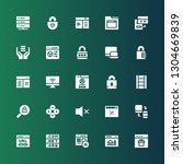 www icon set. collection of 25...   Shutterstock .eps vector #1304669839